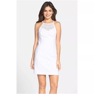 Lilly Pulitzer White Crochet Pearl Shift NWT